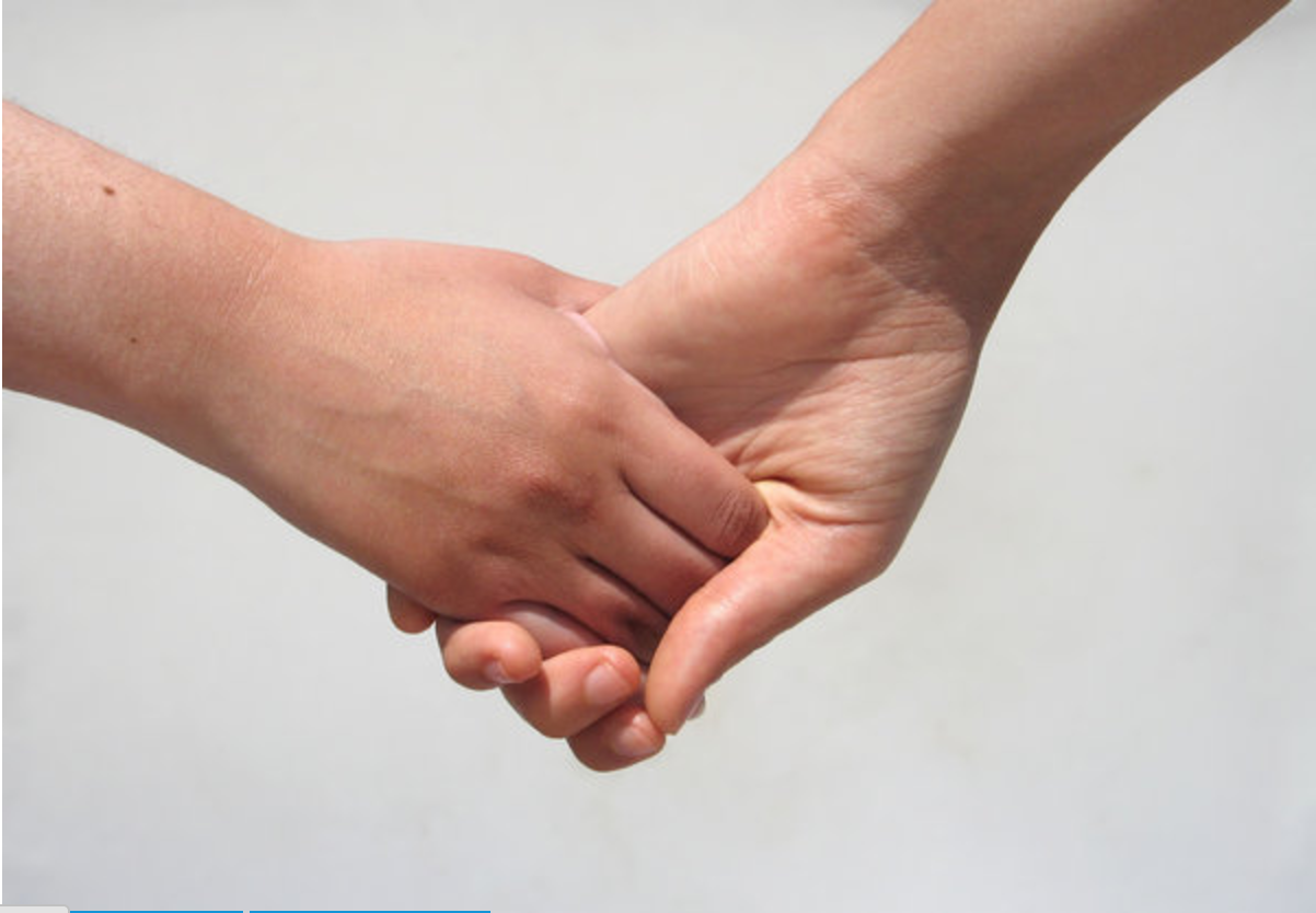 holde i hånden