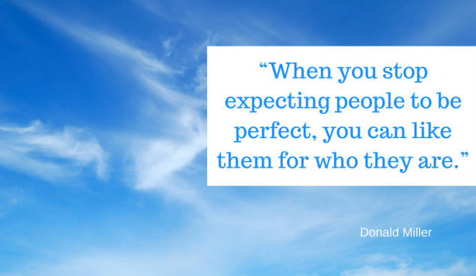 """When you stop expecting people to be perfect, you can like them for who they are, david millar"